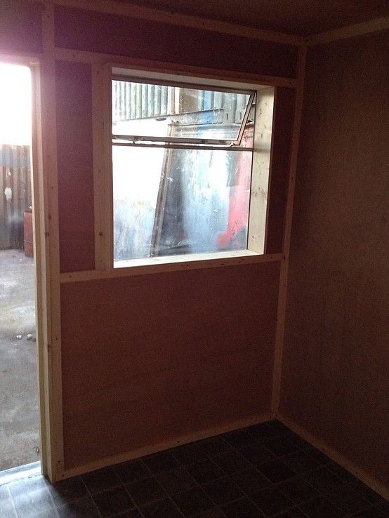 10ft x 8ft Blue Used Shipping Container Office