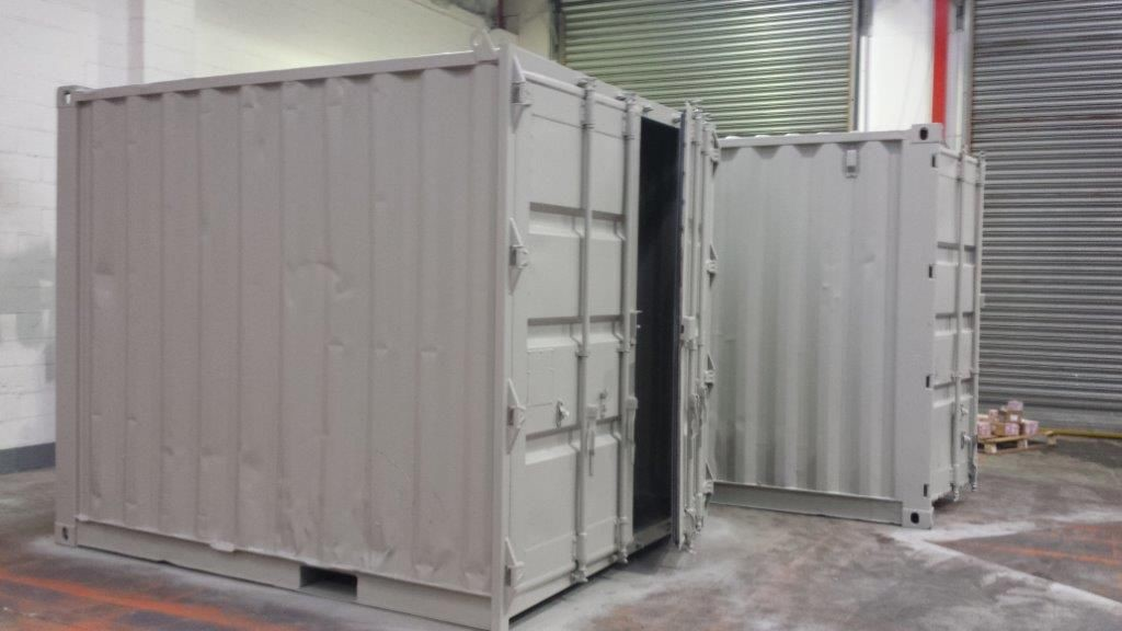 10ft x 8ft Grey Used Shipping Container