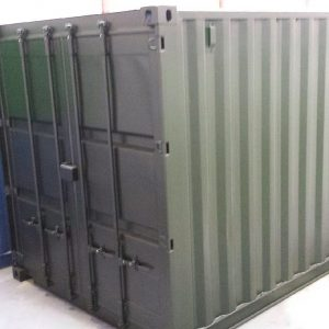 15ft x 8ft Used Shipping Container doors closed
