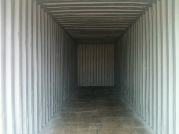 40ft x 8ft Used High Cube Shipping Container interior