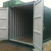 40ft x 8ft Used High Cube Shipping Container open doors