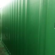 Green 20ft x 8ft Used Shipping Container