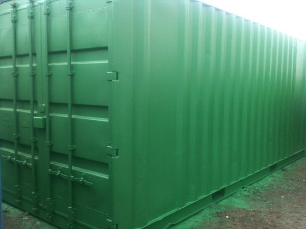 Green 20ft x 8ft Used Shipping Container side