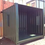 Side Green Smoking Shelter