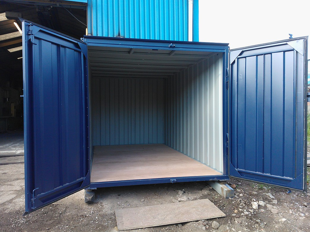 12ft x 8ft Blue New Storage Container wwwglobalshippingcontainers
