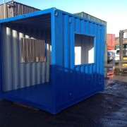 10ft x 8ft Blue portable smoking shelter Side View