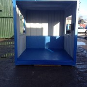 10ft x 8ft Blue portable smoking shelter Front View