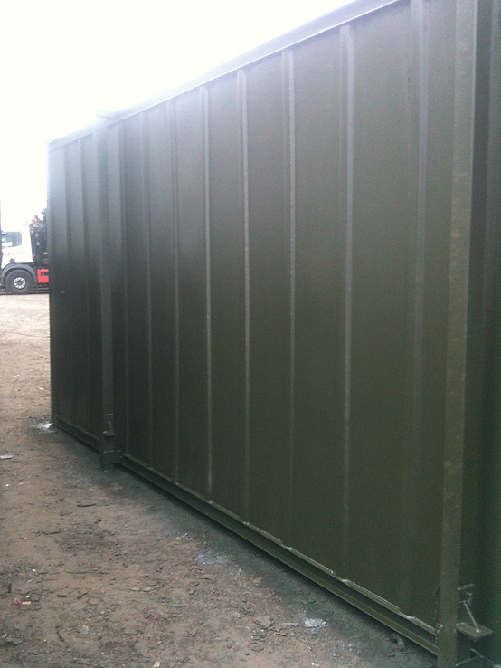Refurbished Shipping Container Ofiice Unit for sale side view