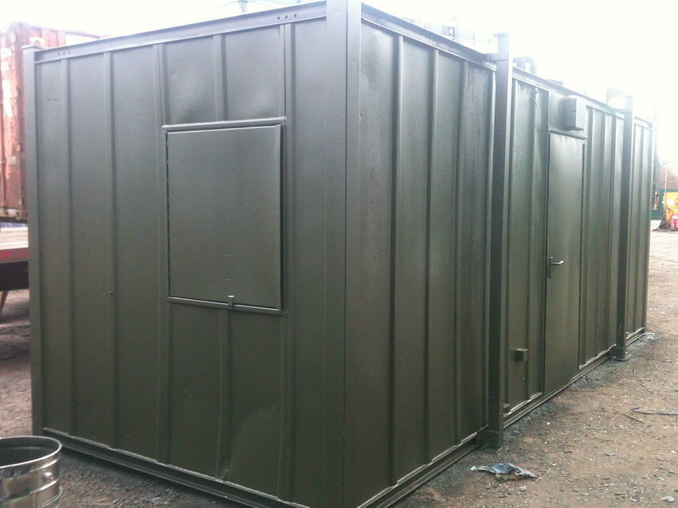 24ft x 9ft Green Used Shipping Container Office