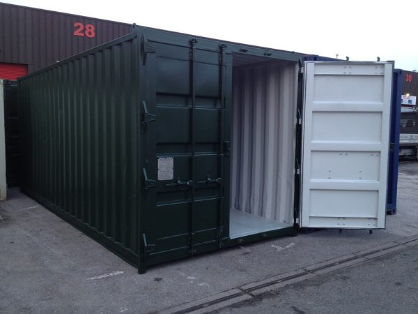 Used Shipping Container Open Door
