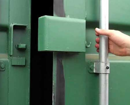 Storage Container Lock Box Green