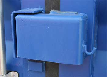 Storage Container Lock Box Light Blue