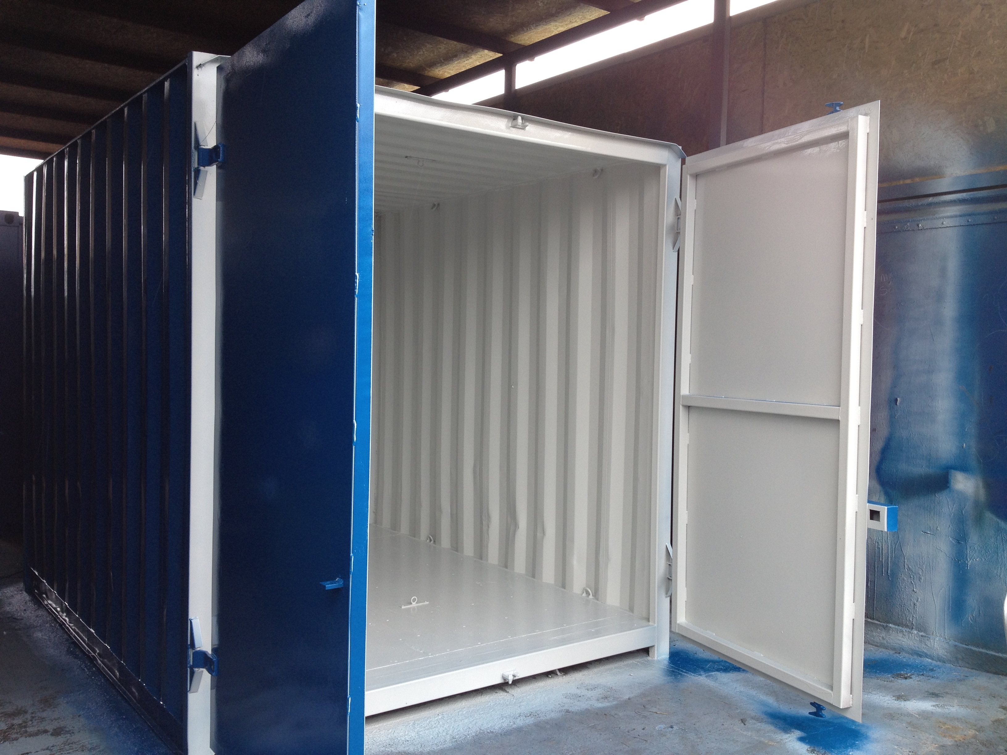 10ft x 8ft Blue Used Shipping Container