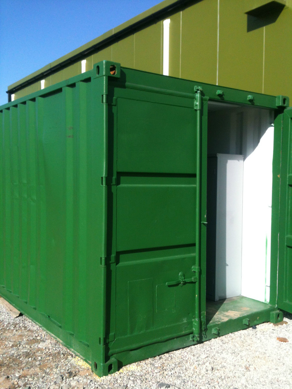 10ft x 8ft Green Used Shipping Container — www ...