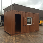 15ft x 8ft Used Shipping Container with Window