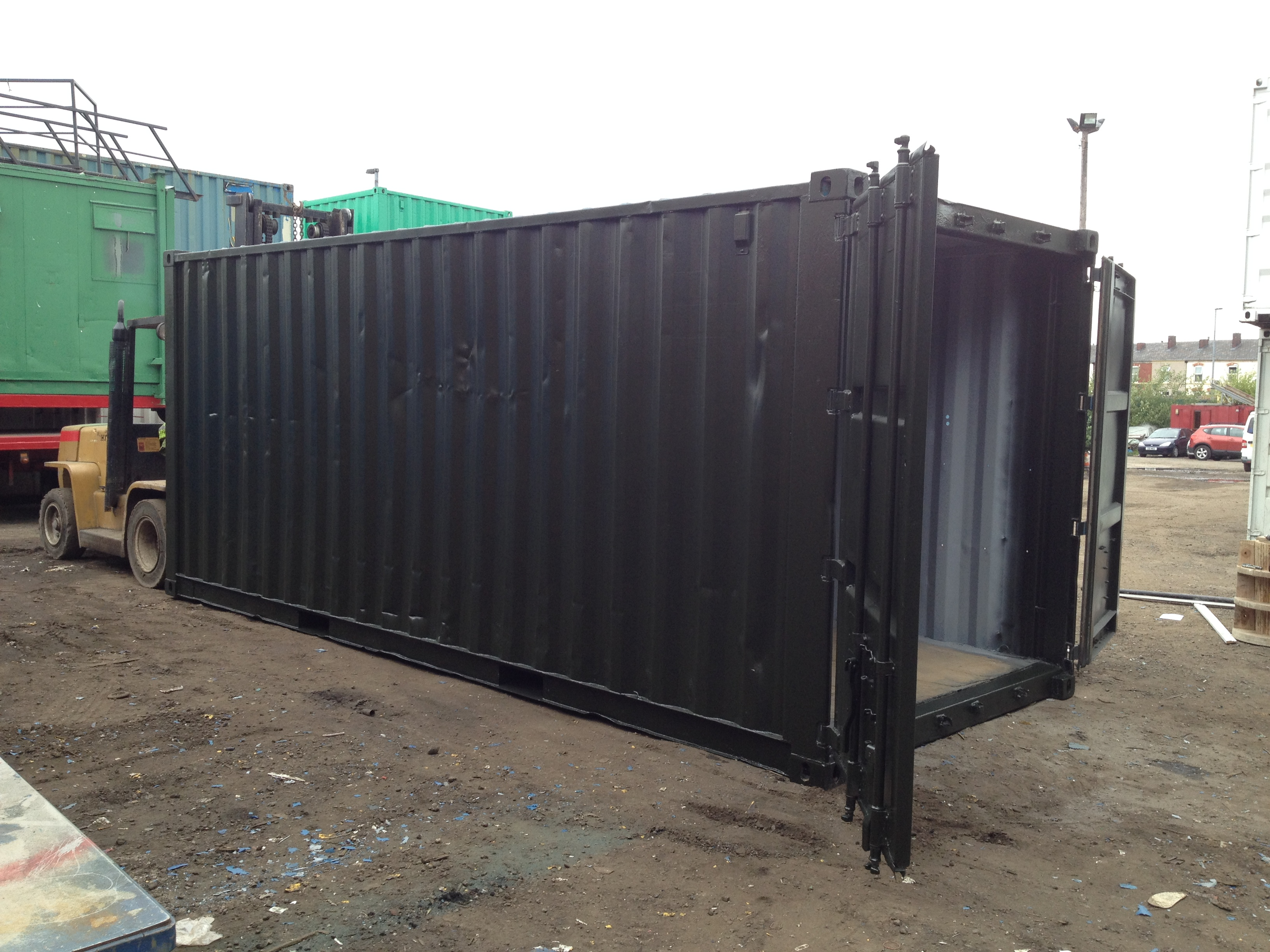 20ft x 8ft Green Used Storage Container | www ...