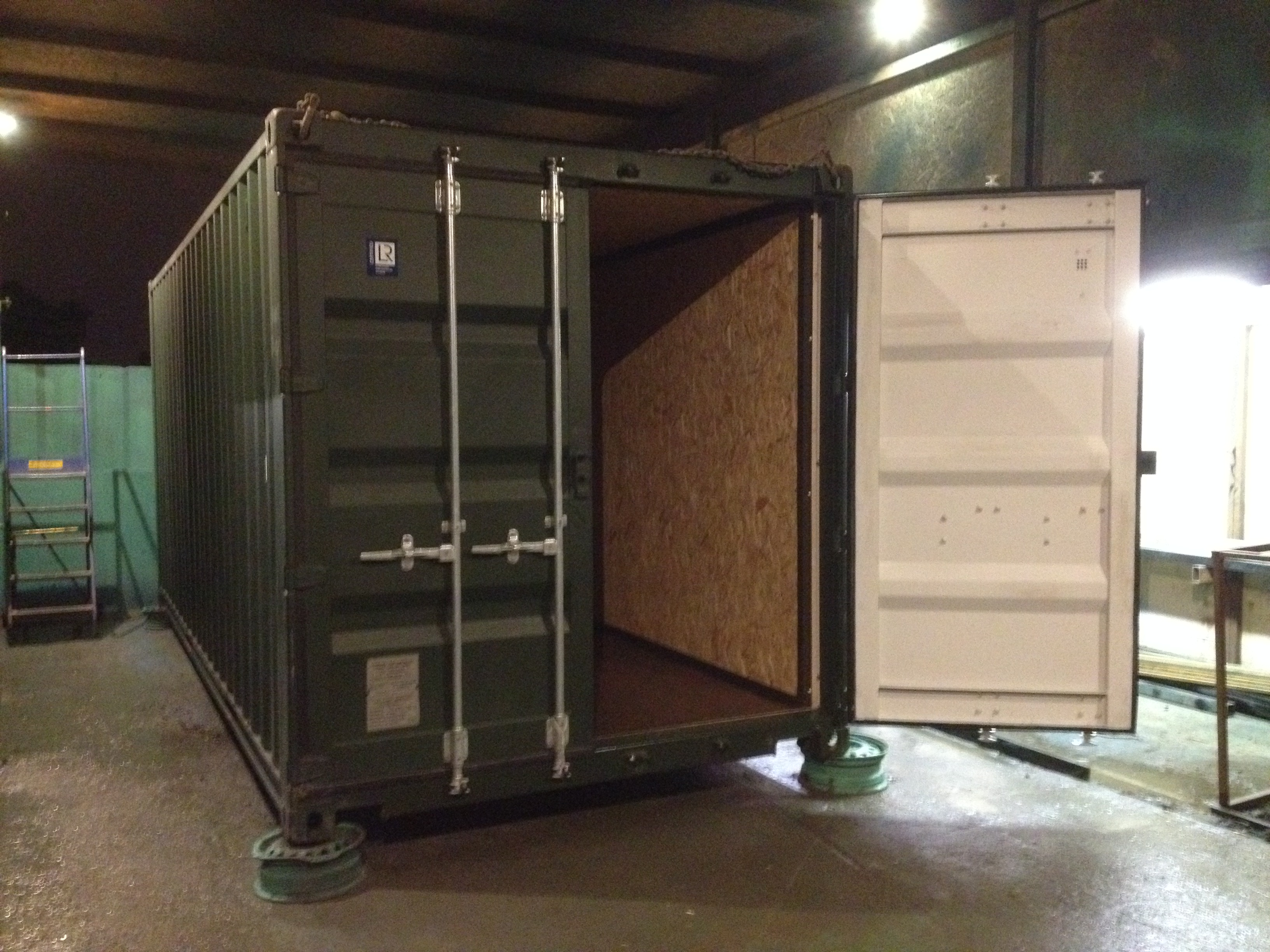 20ft x 8ft green new one way shipping container ply lined - How do you insulate a shipping container home ...