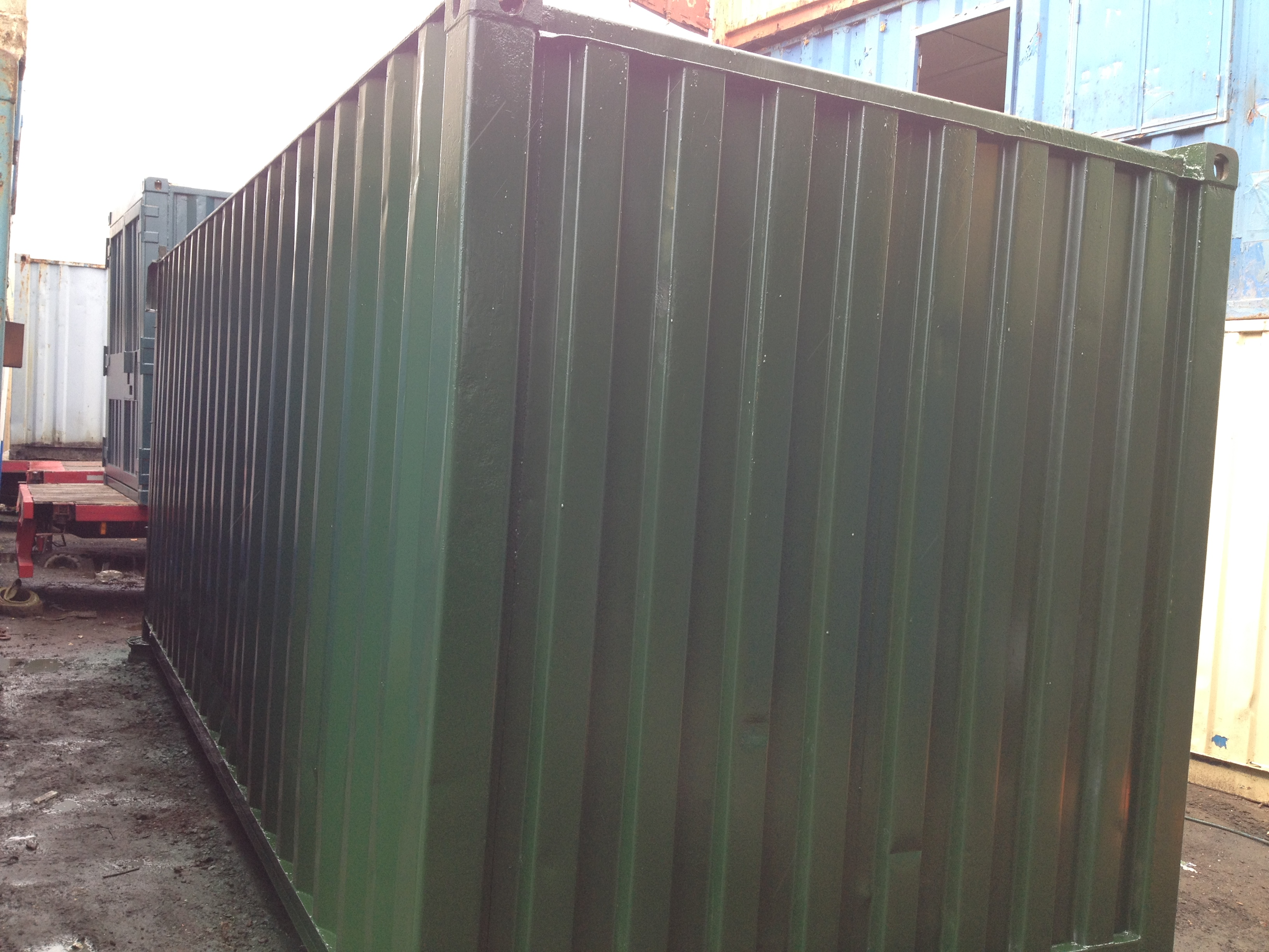 20ft Shipping Container >> 20ft x 8ft Green Used Storage Container Roller Shutter ...
