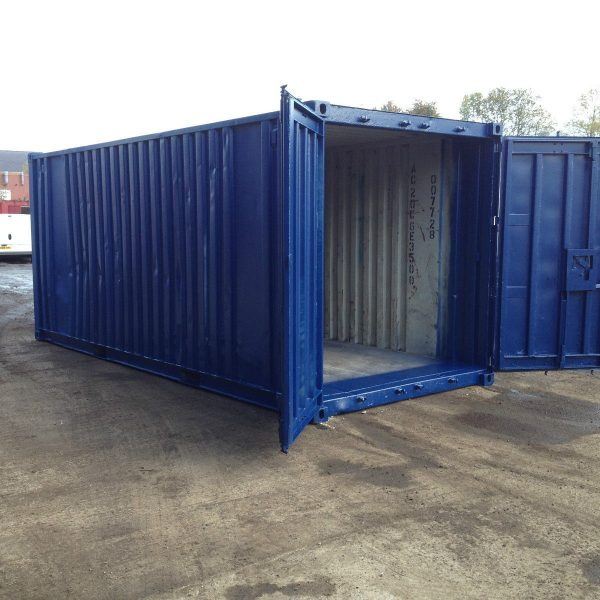 20ft Blue Ship Container2