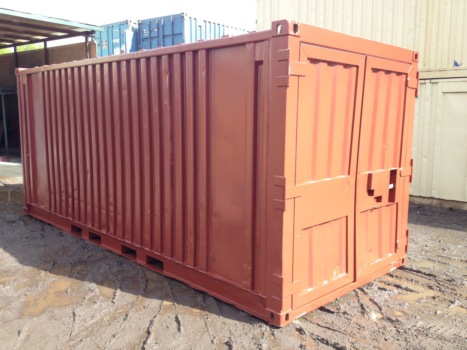 20ft x 8ft Red Used Shipping Container   www ...