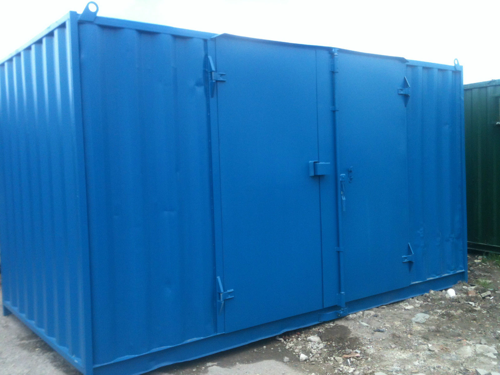 20ft x 8ft Blue Used Shipping Container Side Door