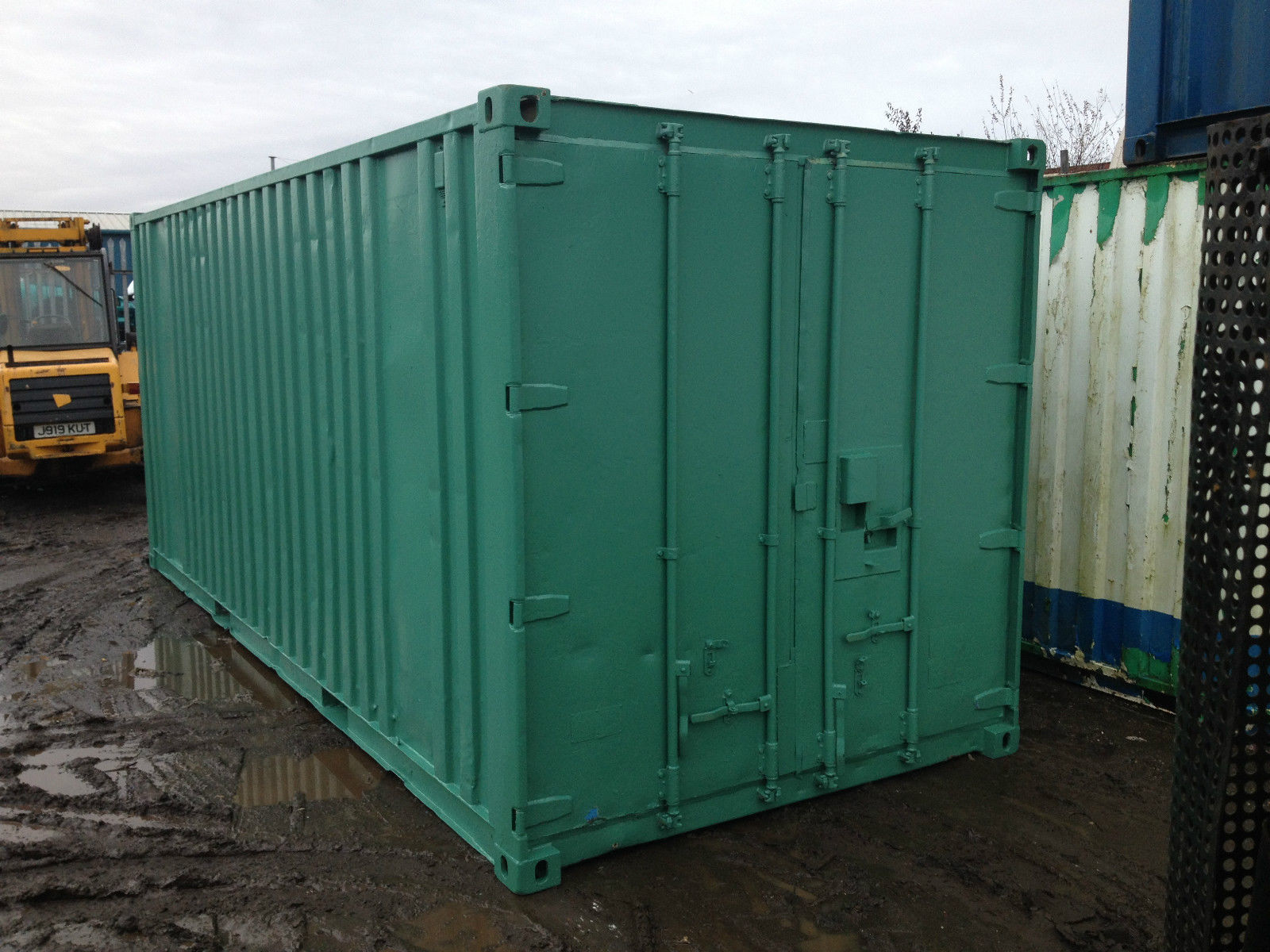 20ft x 8ft Green Used Shipping Container — www ...