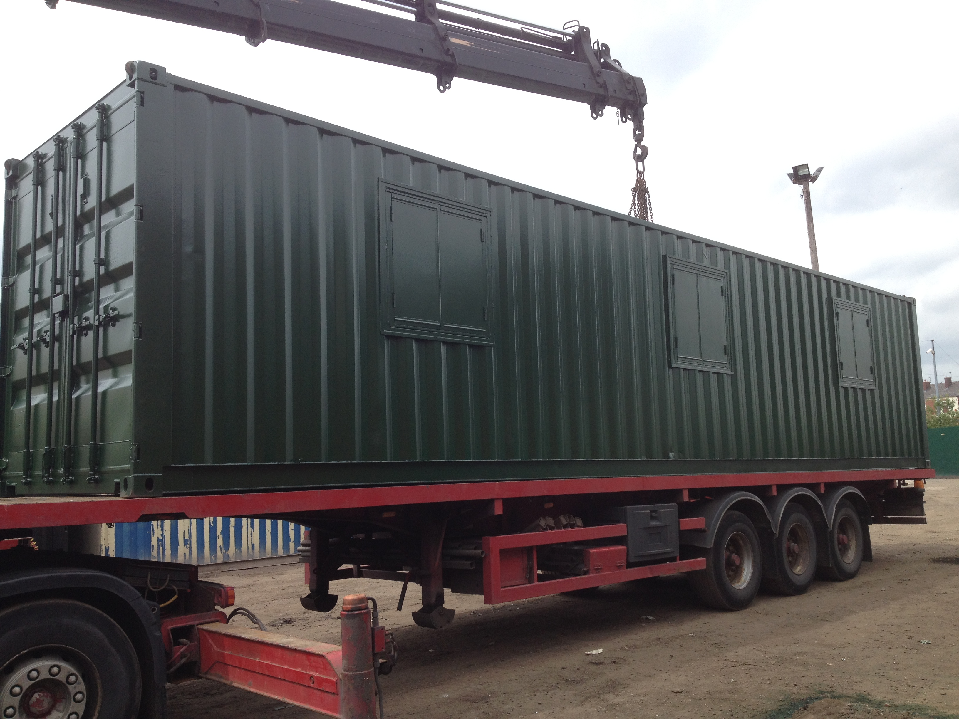 40ft X 8ft Green New Shipping Container Office Canteen