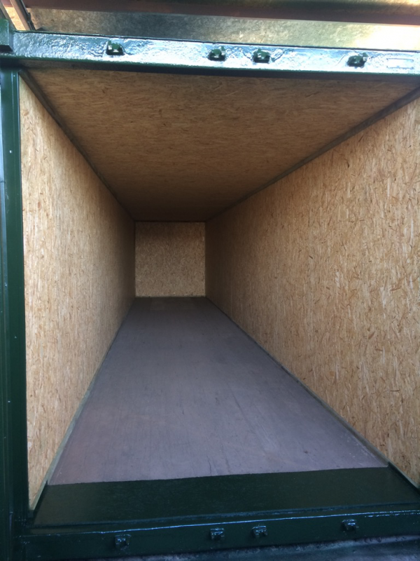 40ft x 8ft Lined Shipping Container
