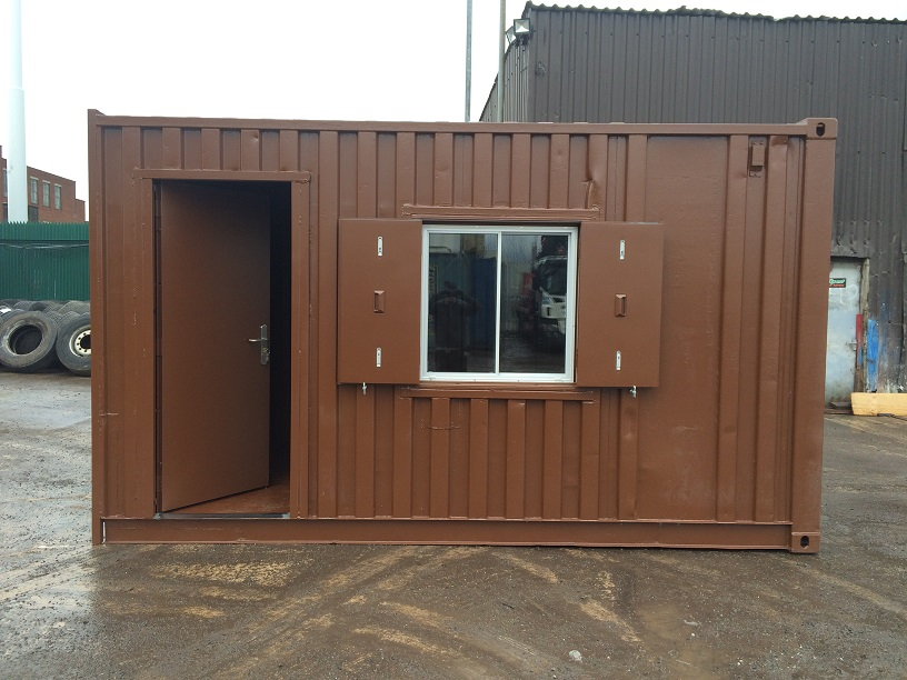 16ft X 8ft Brown Container Office Storage Www