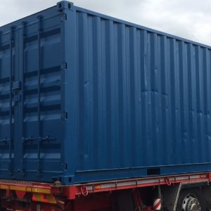 20ft x 8ft Blue Used Storage Container