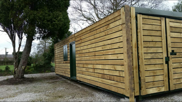 32ft x 8ft Fully clad, fully insulated portable office